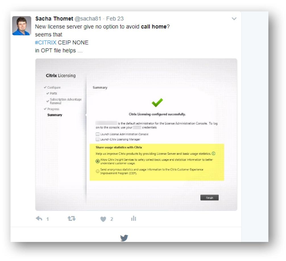 XenApp & XenDesktop Avoid CEIP – sachathomet ch