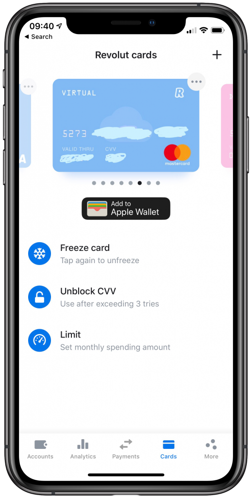 iPhone X with Revolut App